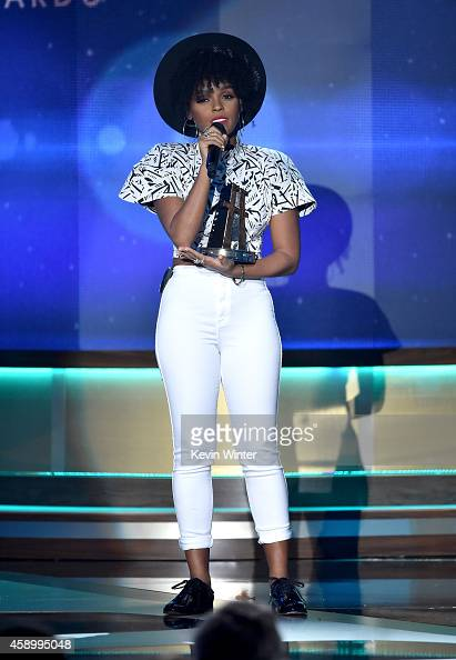 Recording artist Janelle Monae performs onstage during the 18th Annual Hollywood Film Awards at The Palladium on November 14 2014 in Hollywood...