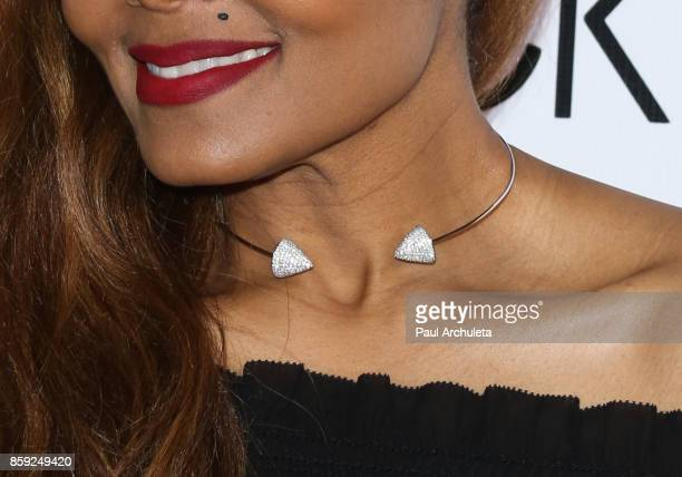 Recording Artist Janet Jackson Jewelry Detail attends her State Of The World Tour after party at Lure Nightclub on October 8 2017 in Los Angeles...