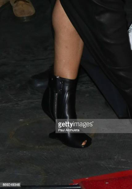 Recording Artist Janet Jackson Shoe Detail attends her State Of The World Tour after party at Lure Nightclub on October 8 2017 in Los Angeles...