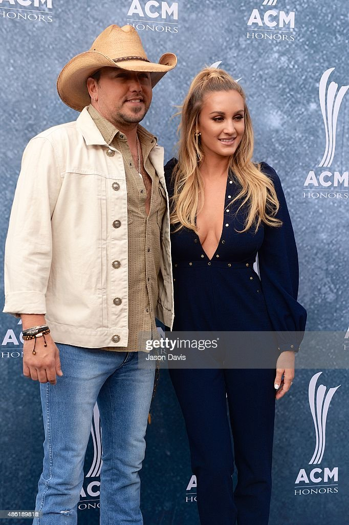 Recording Artist Jason Aldean and Brittany Kerr attend the 9th annual ACM Honors at The Ryman Auditorium on September 1, 2015 in Nashville, Tennessee.