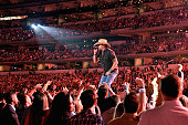 Recording artist Jason Aldean performs onstage during the 50th Academy of Country Music Awards at ATT Stadium on April 19 2015 in Arlington Texas