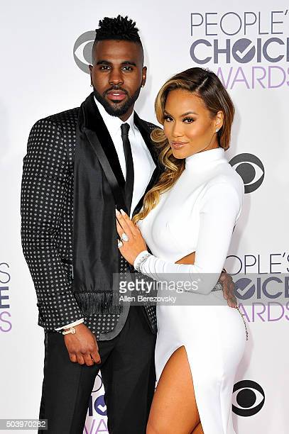 Recording artist Jason Derulo and Daphne Joy arrives at the People's Choice Awards 2016 at Microsoft Theater on January 6 2016 in Los Angeles...
