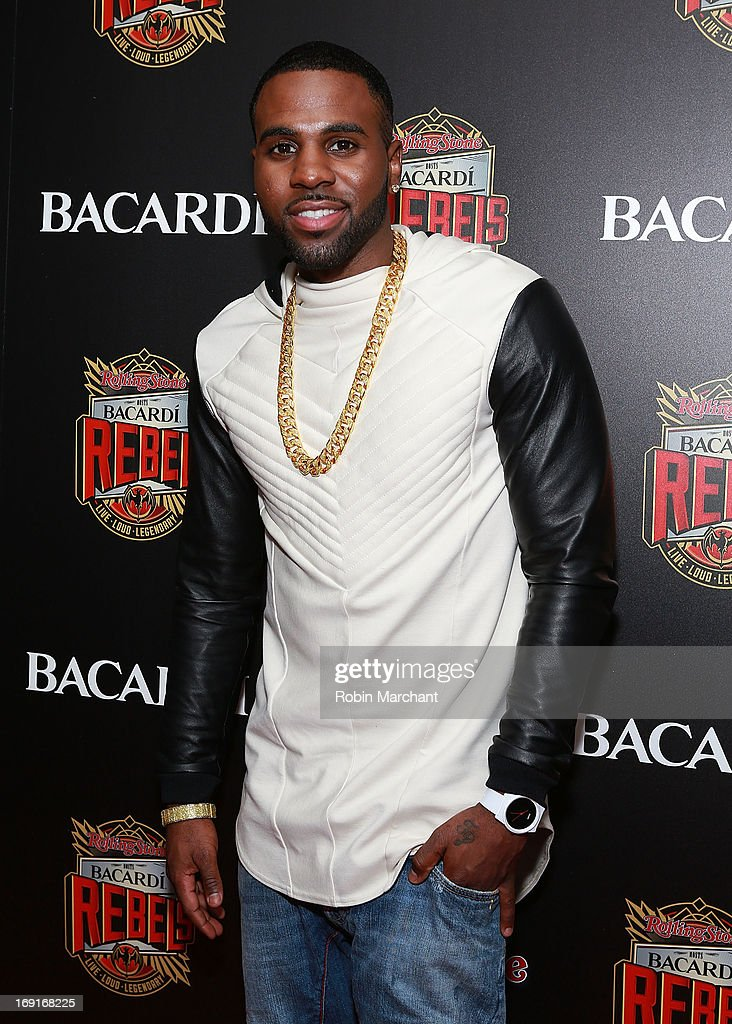 Recording artist <a gi-track='captionPersonalityLinkClicked' href=/galleries/search?phrase=Jason+Derulo&family=editorial&specificpeople=5745869 ng-click='$event.stopPropagation()'>Jason Derulo</a> attends Inaugural Bacardi Rebels event hosted by Rolling Stone at Roseland Ballroom on May 20, 2013 in New York City.