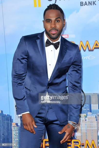 Recording artist Jason Derulo attends the premiere of Columbia Pictures' 'SpiderMan Homecoming' at TCL Chinese Theatre on June 28 2017 in Hollywood...