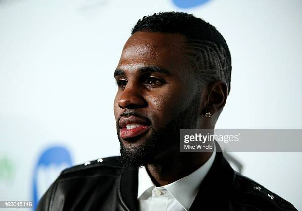 Recording artist Jason Derulo attends the Warner Music Group annual Grammy celebration at Chateau Marmont on February 8 2015 in Los Angeles California