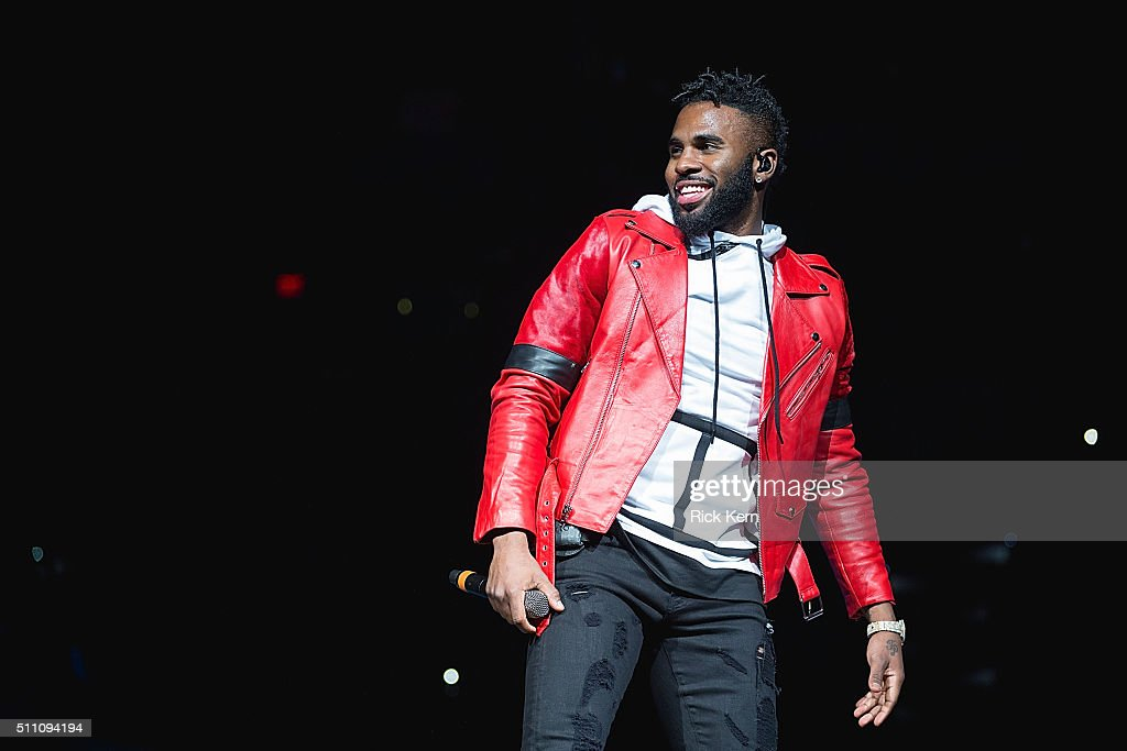 Recording artist Jason Derulo performs in concert as part of the San Antonio Stock Show Rodeo at the ATT Center on February 17 2016 in San Antonio...