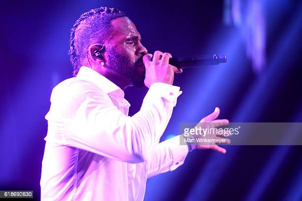 Recording artist Jason Derulo performs onstage during amfAR's Inspiration Gala Los Angeles at Milk Studios on October 27 2016 in Hollywood California
