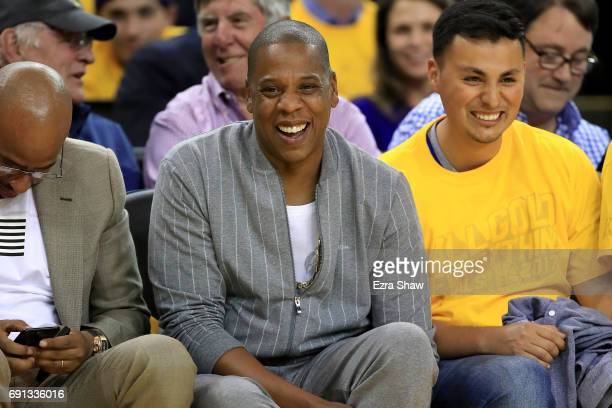 Recording artist JayZ attends Game 1 of the 2017 NBA Finals at ORACLE Arena on June 1 2017 in Oakland California NOTE TO USER User expressly...