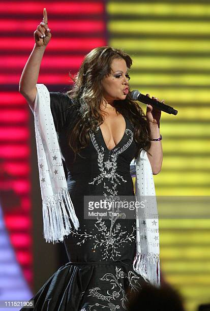 Recording artist Jenni Rivera performs onstage during the 9th Annual Latin Grammy Awards held at Toyota Center on November 13 2008 in Houston Texas