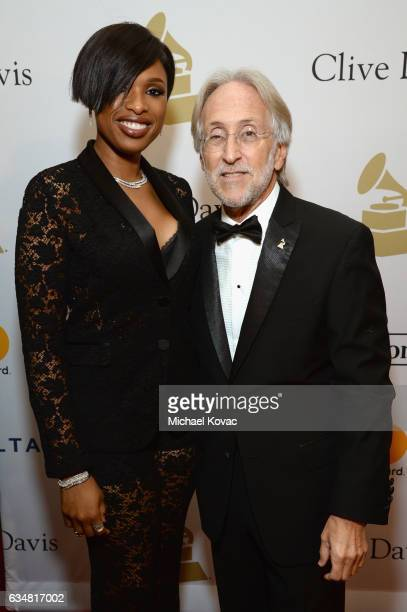 Recording artist Jennifer Hudson and President/CEO of The Recording Academy and GRAMMY Foundation President/CEO Neil Portnow attend PreGRAMMY Gala...