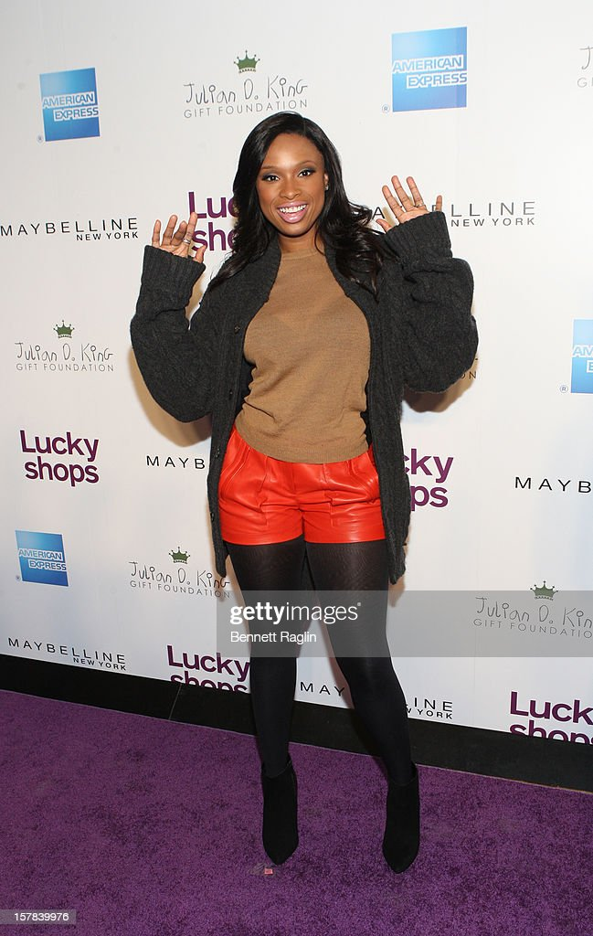 Recording artist <a gi-track='captionPersonalityLinkClicked' href=/galleries/search?phrase=Jennifer+Hudson&family=editorial&specificpeople=234833 ng-click='$event.stopPropagation()'>Jennifer Hudson</a> attends the 9th Annual Lucky Shops Event at 82 Mercer on December 6, 2012 in New York City.