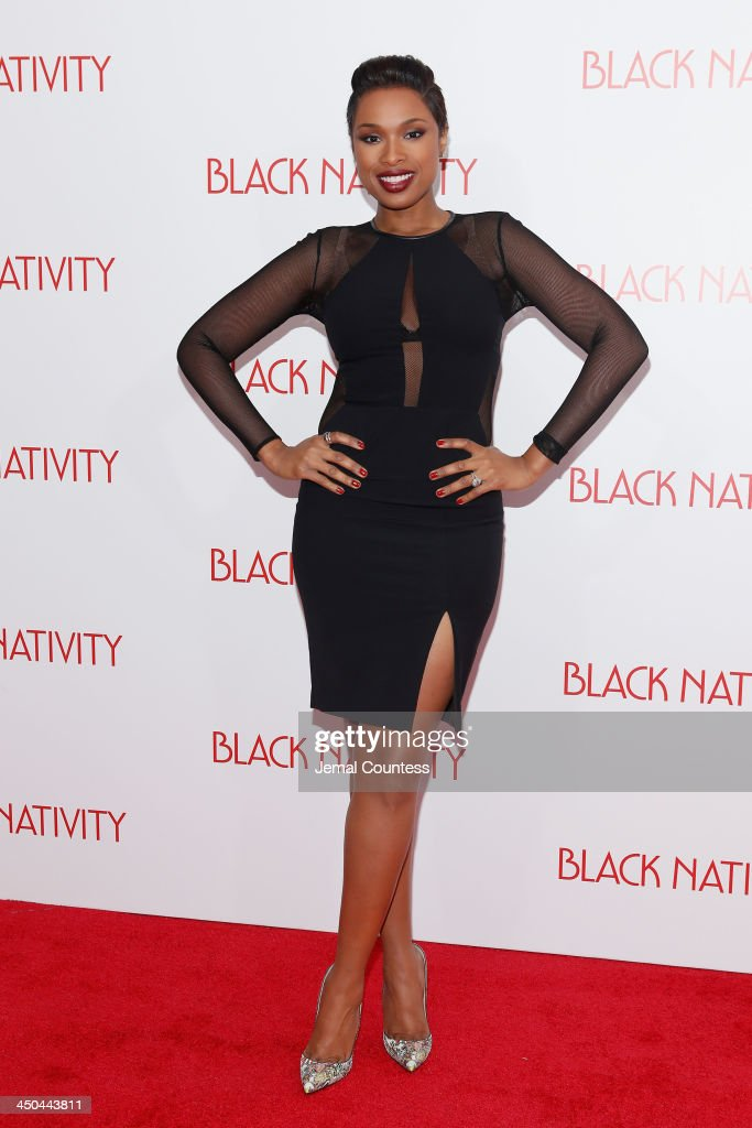 Recording artist <a gi-track='captionPersonalityLinkClicked' href=/galleries/search?phrase=Jennifer+Hudson&family=editorial&specificpeople=234833 ng-click='$event.stopPropagation()'>Jennifer Hudson</a> attends the'Black Nativity' premiere at The Apollo Theater on November 18, 2013 in New York City.