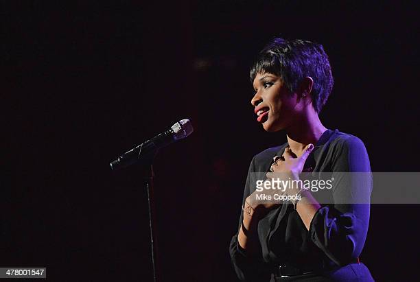 Recording artist Jennifer Hudson performs during the Pinoy Relief Benefit concert at Madison Square Garden on March 11 2014 in New York City