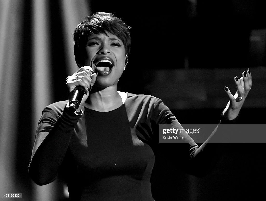 Recording artist Jennifer Hudson performs onstage during Stevie Wonder: Songs In The Key Of Life - An All-Star GRAMMY Salute at Nokia Theatre L.A. Live on February 10, 2015 in Los Angeles, California.