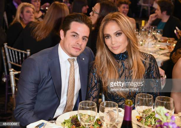 Recording artist Jennifer Lopez and Choreographer Casper Smart attend the 25th Annual GLAAD Media Awards at The Beverly Hilton Hotel on April 12 2014...