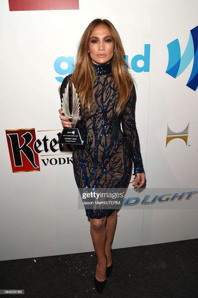 Recording artist <a gi-track='captionPersonalityLinkClicked' href=/galleries/search?phrase=Jennifer+Lopez&family=editorial&specificpeople=201784 ng-click='$event.stopPropagation()'>Jennifer Lopez</a> attends the 25th Annual GLAAD Media Awards at The Beverly Hilton Hotel on April 12, 2014 in Los Angeles, California.