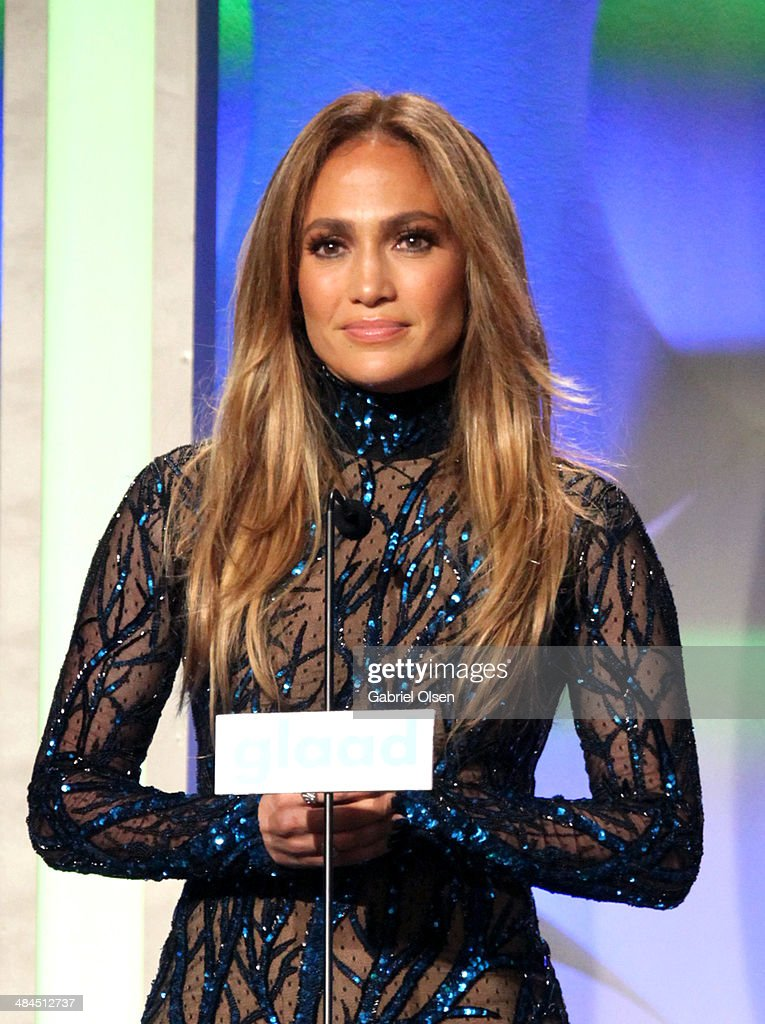 Recording Artist <a gi-track='captionPersonalityLinkClicked' href=/galleries/search?phrase=Jennifer+Lopez&family=editorial&specificpeople=201784 ng-click='$event.stopPropagation()'>Jennifer Lopez</a> speaks onstage during the 25th Annual GLAAD Media Awards at The Beverly Hilton Hotel on April 12, 2014 in Beverly Hills, California.