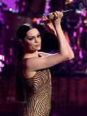 Recording artist Jessie J performs onstage at the 2014 American Music Awards at Nokia Theatre LA Live on November 23 2014 in Los Angeles California