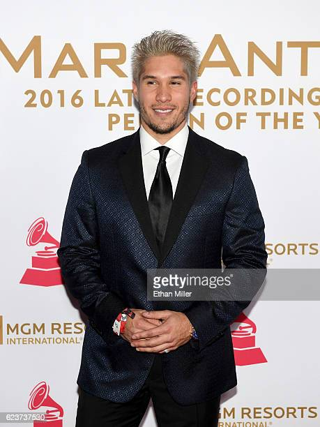 Recording artist Jesus Alberto Miranda Perez of Chino attends the 2016 Person of the Year honoring Marc Anthony at MGM Grand Garden Arena on November...