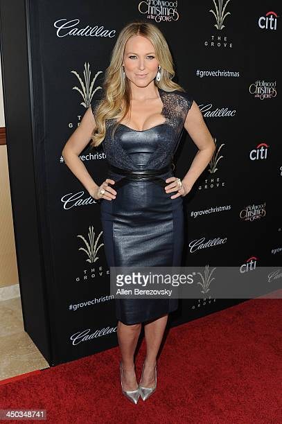 Recording artist Jewel attends The Grove's 11th annual Christmas Tree Lighting Spectacular at The Grove on November 17 2013 in Los Angeles California