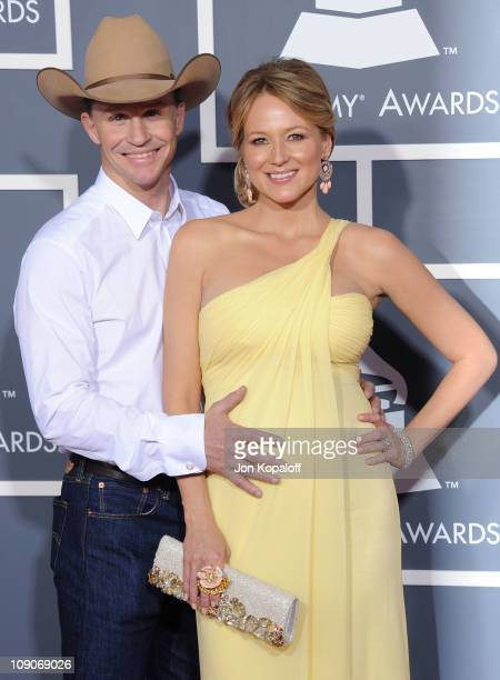 Recording artist Jewel Kilcher and husband Ty Murray arrive at The 53rd Annual GRAMMY Awards at Staples Center on February 13 2011 in Los Angeles...