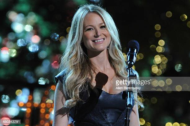 Recording artist Jewel performs on stage during The Grove's 11th annual Christmas Tree Lighting Spectacular at The Grove on November 17 2013 in Los...