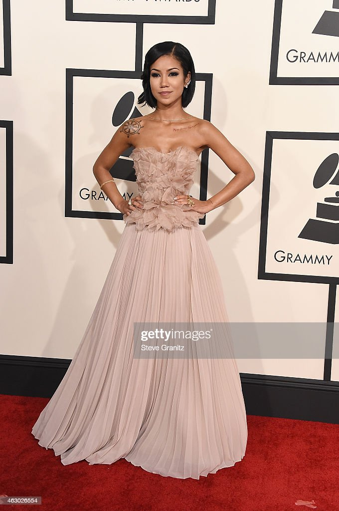 Recording artist Jhene Aiko attends The 57th Annual GRAMMY Awards at the STAPLES Center on February 8 2015 in Los Angeles California