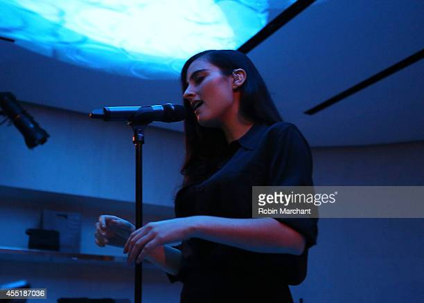 Recording artist Jillian Banks performs at the 31 Phillip Lim NYC Flagship Store Opening on September 9 2014 in New York City