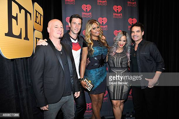 Recording artist Jimmy Stafford of the band Train actor Pablo Schreiber actress Laverne Cox actress Dascha Polanco and recording artist Pat Monahan...