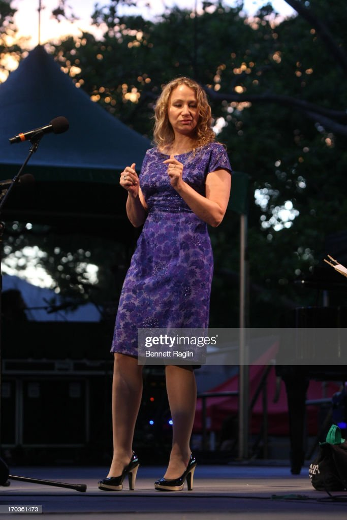 Recording artist <a gi-track='captionPersonalityLinkClicked' href=/galleries/search?phrase=Joan+Osborne&family=editorial&specificpeople=984585 ng-click='$event.stopPropagation()'>Joan Osborne</a> performs during the 2013 City Parks Foundation's SummerStage Gala at Central Park SummerStage on June 11, 2013 in New York City.