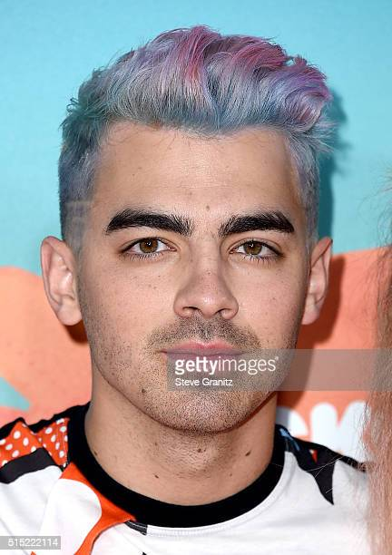 Recording artist Joe Jonas attends Nickelodeon's 2016 Kids' Choice Awards at The Forum on March 12 2016 in Inglewood California