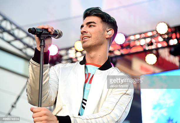 Recording artist Joe Jonas of DNCE performs onstage at 1027 KIIS FM's Jingle Ball Village at KIIS FM's Jingle Ball 2015 Presented by Capital One...