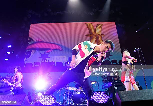 Recording artist Joe Jonas of DNCE performs onstage during 1027 KIIS FM's Jingle Ball 2015 Presented by Capital One at STAPLES CENTER on December 4...