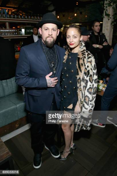 Recording artist Joel Madden of Good Charlotte and fashion designer Nicole Richie at a celebration of music with Republic Records in partnership with...