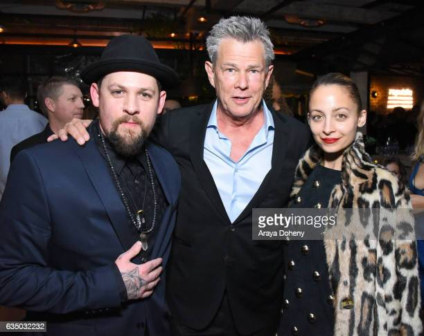 Recording artist Joel Madden of Good Charlotte producer David Foster and fashion designer Nicole Richie at a celebration of music with Republic...