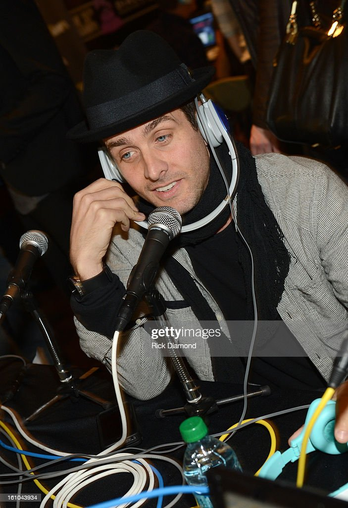 Recording artist Joey McIntyre is interviewed at the GRAMMYs Dial Global Radio Remotes during The 55th Annual GRAMMY Awards at the STAPLES Center on...