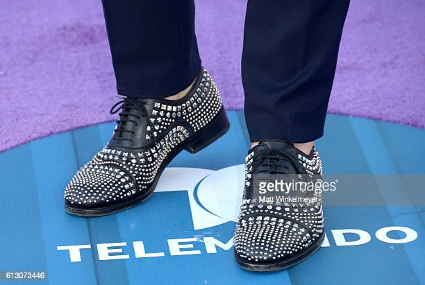 Recording artist Johann Vera fashion detail attends the 2016 Latin American Music Awards at Dolby Theatre on October 6 2016 in Hollywood California