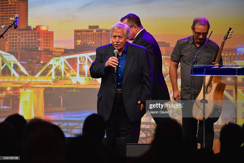 Recording Artist <a gi-track='captionPersonalityLinkClicked' href=/galleries/search?phrase=John+Conlee&family=editorial&specificpeople=1980243 ng-click='$event.stopPropagation()'>John Conlee</a> performs during 33rd Annual American Eagle Awards during Music Industry Day at Summer NAMM in Music City Center on June 25, 2016 in Nashville, Tennessee.
