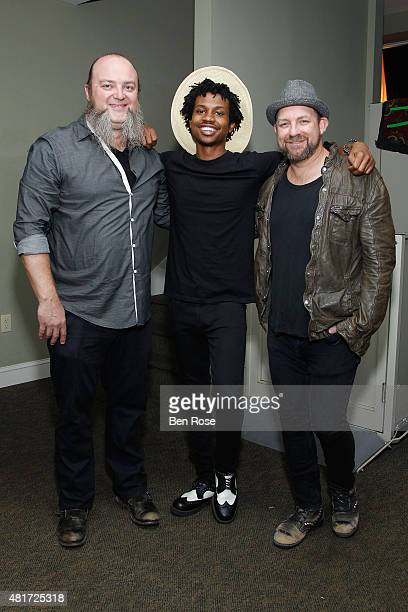 Recording artist John Driskell Hopkins of The Zac Brown Band recording artist Raury Tullis and recording artist Kristian Bush attend the GRAMMY...