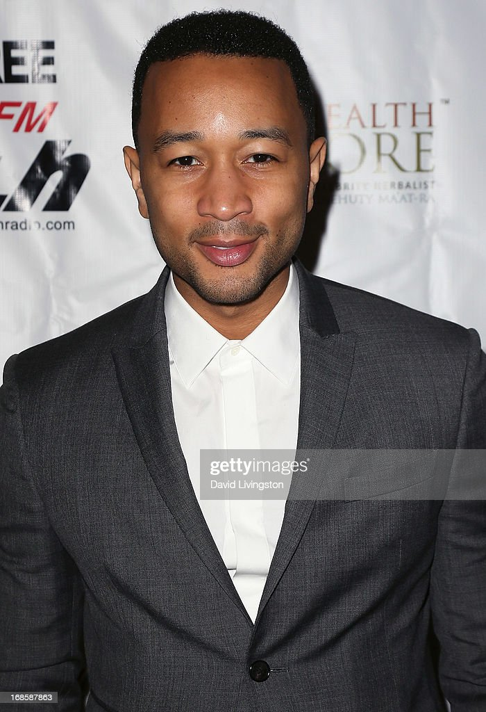 Recording artist <a gi-track='captionPersonalityLinkClicked' href=/galleries/search?phrase=John+Legend&family=editorial&specificpeople=201468 ng-click='$event.stopPropagation()'>John Legend</a> attends Stevie Wonder's 63rd birthday celebration at the House of Music & Entertainment on May 11, 2013 in Beverly Hills, California.