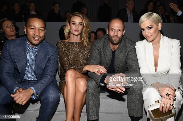 Recording artist John Legend model Rosie HuntingtonWhiteley actor Jason Statham and actress/recording artist Rita Ora attend the TOM FORD...