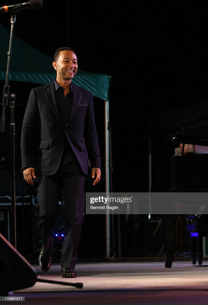 Recording artist <a gi-track='captionPersonalityLinkClicked' href=/galleries/search?phrase=John+Legend&family=editorial&specificpeople=201468 ng-click='$event.stopPropagation()'>John Legend</a> performs during the 2013 City Parks Foundation's SummerStage Gala at Central Park SummerStage on June 11, 2013 in New York City.