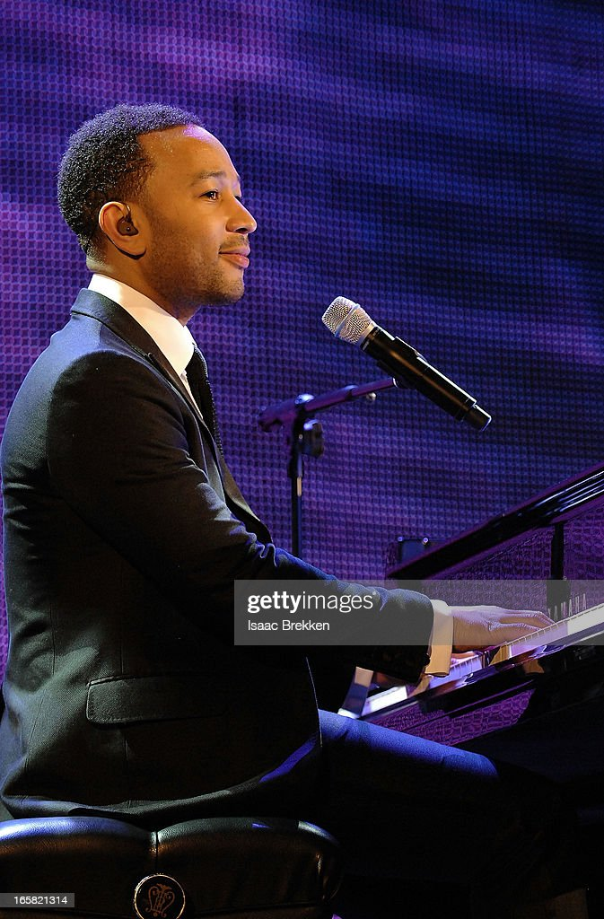 Recording artist <a gi-track='captionPersonalityLinkClicked' href=/galleries/search?phrase=John+Legend&family=editorial&specificpeople=201468 ng-click='$event.stopPropagation()'>John Legend</a> performs onstage at the 12th Annual Michael Jordan Celebrity Invitational Gala At ARIA Resort & Casino on April 5, 2013 in Las Vegas, Nevada.