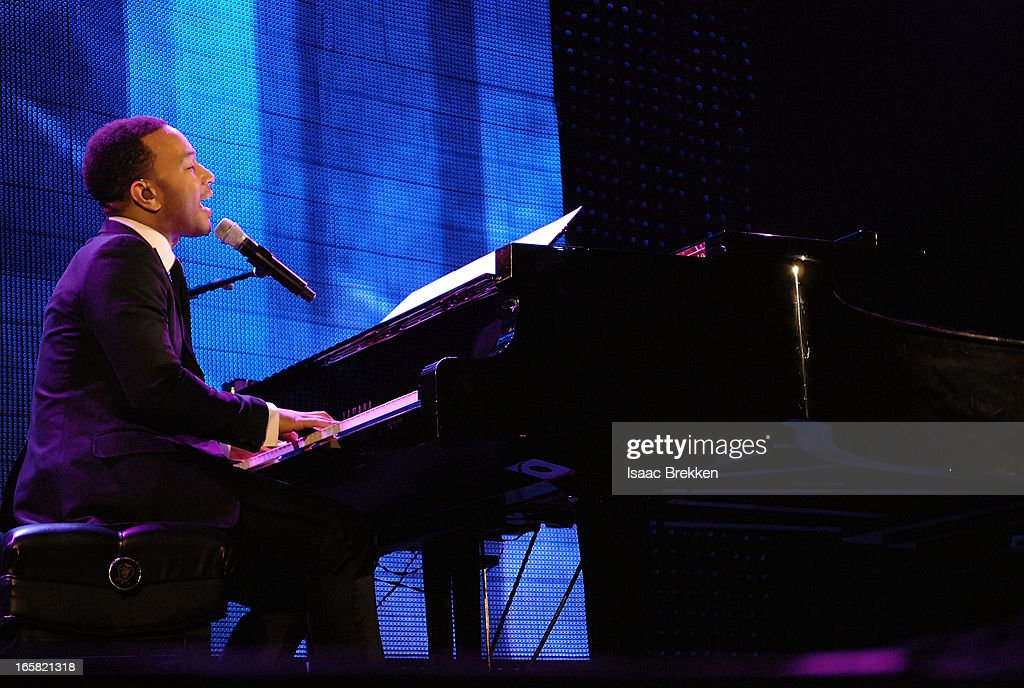 Recording artist John Legend performs onstage at the 12th Annual Michael Jordan Celebrity Invitational Gala At ARIA Resort & Casino on April 5, 2013 in Las Vegas, Nevada.