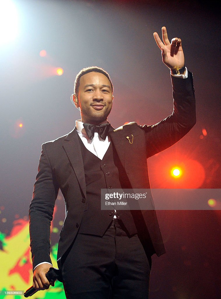 Recording artist <a gi-track='captionPersonalityLinkClicked' href=/galleries/search?phrase=John+Legend&family=editorial&specificpeople=201468 ng-click='$event.stopPropagation()'>John Legend</a> performs onstage at the Keep Memory Alive foundation's 'Power of Love Gala' celebrating Muhammad Ali's 70th birthday at the MGM Grand Garden Arena February 18, 2012 in Las Vegas, Nevada. The event benefits the Cleveland Clinic Lou Ruvo Center for Brain Health and the Muhammad Ali Center.