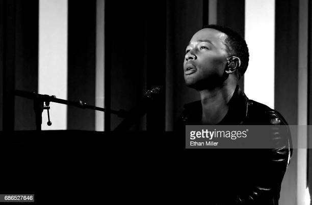 Recording artist John Legend performs onstage during the 2017 Billboard Music Awards at TMobile Arena on May 21 2017 in Las Vegas Nevada