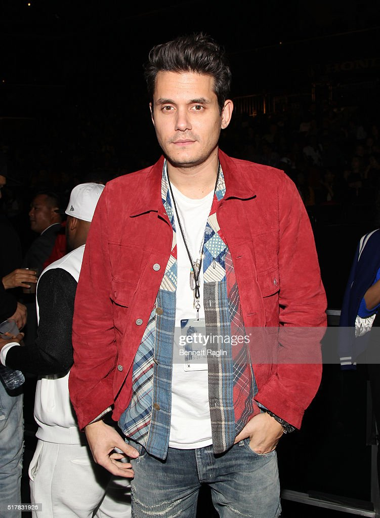 Recording artist <a gi-track='captionPersonalityLinkClicked' href=/galleries/search?phrase=John+Mayer&family=editorial&specificpeople=201930 ng-click='$event.stopPropagation()'>John Mayer</a>s attends the D'USSE VIP Riser At Rihanna: ANTI World Tour at Barclays Center on March 27, 2016 in New York City.