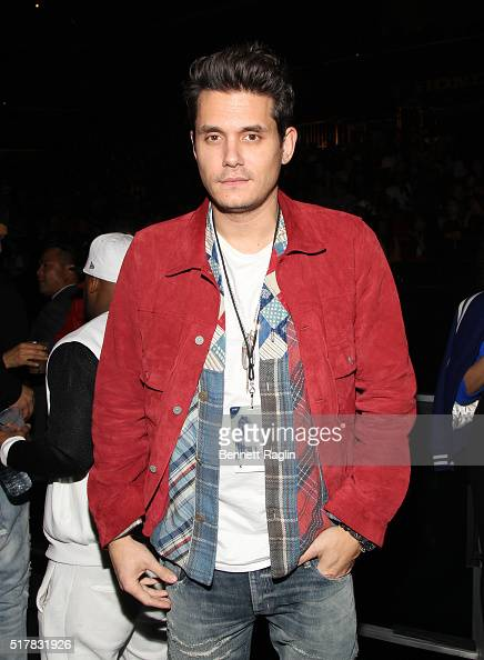 Recording artist John Mayers attends the D'USSE VIP Riser At Rihanna ANTI World Tour at Barclays Center on March 27 2016 in New York City