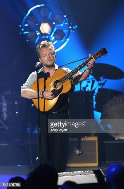 Recording artist John Mellencamp performs onstage during CMT Crossroads John Mellencamp and Darius Rucker on February 24 2017 in Nashville Tennessee