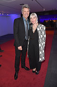 Recording artist Jon Bon Jovi and director of special projects at Vanity Fair Sara Marks attend the Vanity Fair Super Bowl Party hosted by Graydon...
